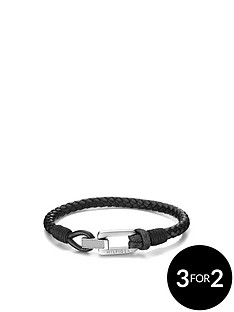 tommy-hilfiger-tommy-hilfiger-mens-black-leather-bracelet