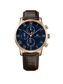 tommy-hilfiger-tommy-hilfiger-mens-brown-leather-strap-watch