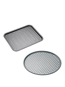 masterclass-non-stick-crisper-and-pizza-tray-set