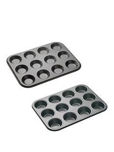 masterclass-non-stick-twelve-hole-2-piece-baking-set