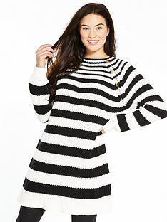 v-by-very-variegatednbspstripe-rib-button-detail-tunic
