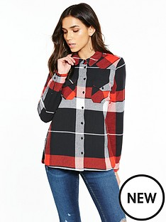noisy-may-erik-long-sleeve-check-shirt-red