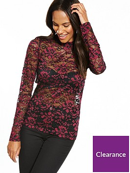 vero-moda-elsa-lace-long-sleeve-top-zinfandel