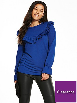 v-by-very-jersey-v-frill-front-top