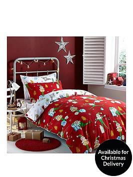 catherine-lansfield-shelfie-elfie-christmas-duvet-cover-set