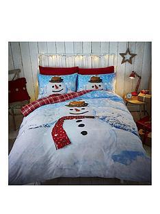 catherine-lansfield-snowman-double-duvet-set
