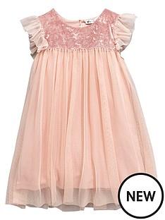mini-v-by-very-girls-velour-sparkle-mesh-dress-pink