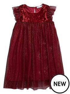 mini-v-by-very-girls-velour-sparkle-mesh-dress-merlot