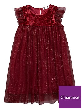 mini-v-by-very-girls-velour-sparkle-mesh-party-dress-merlot