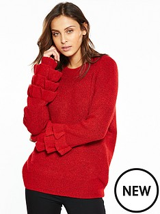v-by-very-tiered-frill-cuff-jumper