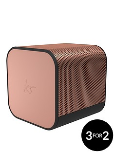 kitsound-boom-cube-portable-wireless-bluetooth-speaker-with-passive-bass-radiator-metallic-finish-and-up-to-6-hours-play-time-rose-gold