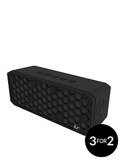 kitsound-hive-x-bluetooth-wireless-bluetooth-water-resistant-speaker-with-usb-device-charging-ability-and-up-to-20-hours-play-time