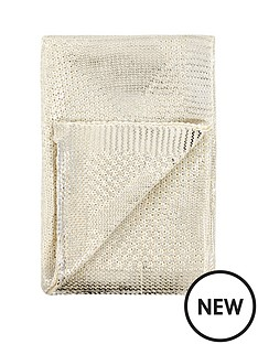 michelle-keegan-metallic-diamond-knitted-throw