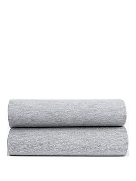 ladybird-ladybird-grey-marl-pk-2-fitted-moses-sheets
