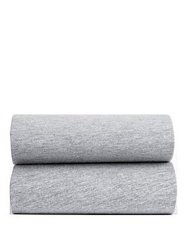 ladybird-ladybird-grey-marl-pk-2-fitted-cot-cot-bed-sheets