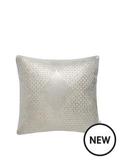 michelle-keegan-metallic-diamond-knitted-cushion
