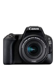 canon-eos-200d-slr-camera-in-black-with-18-55mm-is-stm-black-lens-242mp-30lcd-fhd