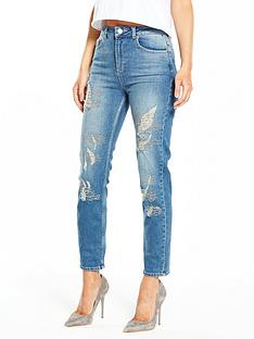 miss-selfridge-hot-fix-ripped-mom-jean-blue