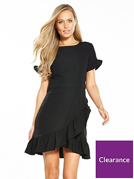 miss-selfridge-frill-hem-smart-dress-blacknbsp