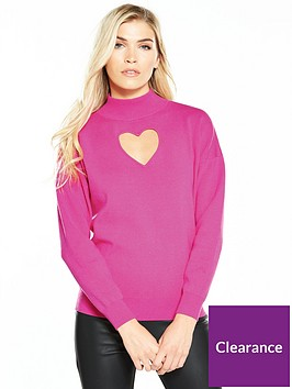 warehouse-cut-out-jumper-pink