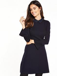 warehouse-lace-collar-dress