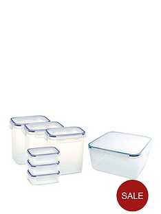 addis-addis-clip-amp-close-7-piece-baking-food-storage-containers-set-clear