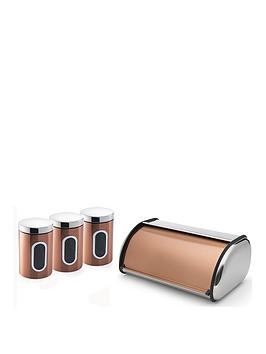 Addis Addis 4 Piece Copper Kitchen Storage Set, Copper Picture