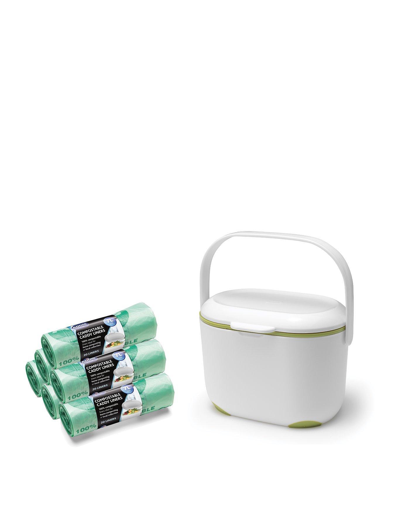 Addis Plastic Premium Dish Drainer White//Green White Green