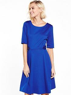 wallis-wallis-button-waist-fit-amp-flare-dress