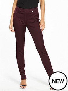 wallis-tinseltown-side-zip-skinny-trouser-berry