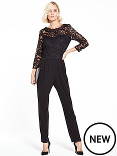 wallis-lace-slash-neck-jumpsuit