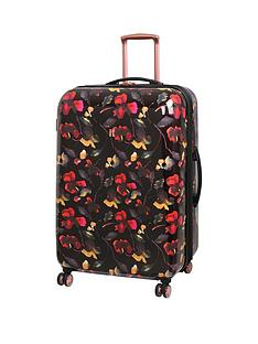 it-luggage-rose-gold-floral-8-wheel-large-case