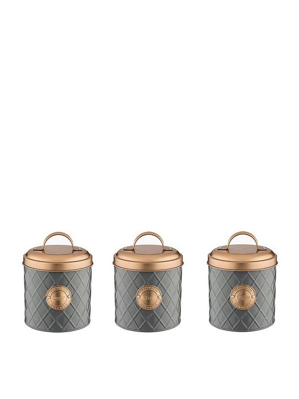 Living Tea Coffee And Sugar Storage Canisters Copper