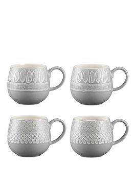 Mason Cash Mason Cash Set Of 4 Impressions Mugs Picture