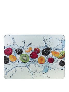 Apollo   Fruit Splash Glass Worktop Savers - Set Of 2