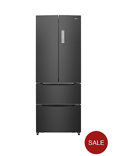 hisense-rf528n4ab-70cm-wide-french-door-style-fridge-freezer-black