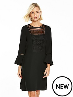 warehouse-lace-and-crepe-mix-dress