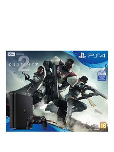 playstation-4-slim-500gbnbspconsole-black-with-destiny-2nbspplus-optional-extra-controller-andor-12-months-playstation-network