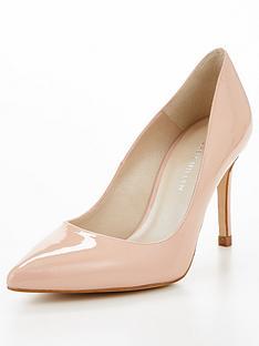 karen-millen-patent-court-shoe-nude
