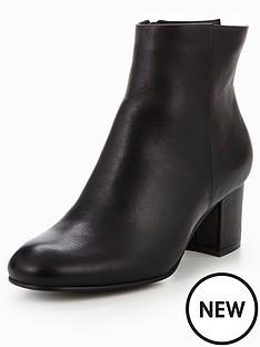 karen-millen-leather-block-heel-boot