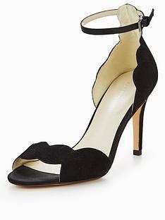 karen-millen-suede-scalloped-sandals