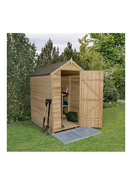 forest-6-x-4ft-overlap-pressure-treated-foot-apex-shed-without-windowsnbsp