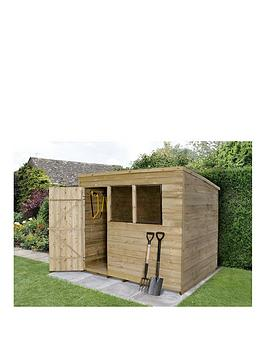 forest-8-x-6ft-overlap-pressure-treated-foot-pent-shed