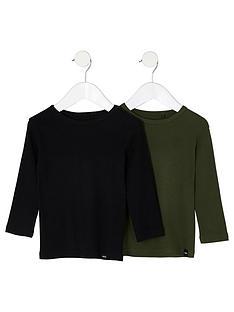 river-island-mini-boys-black-and-khaki-t-shirt-multipack