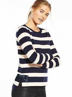 oasis-bow-hem-knit-jumper-navynude