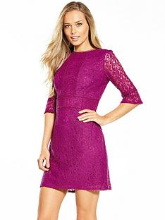 oasis-kick-sleeve-lace-dress-purple