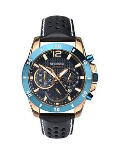 sekonda-sekonda-chronograph-style-dark-blue-leather-strap-mens-watch