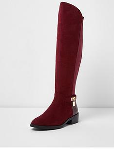 river-island-flat-knee-high-padlock-boot