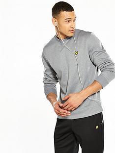 lyle-scott-fitness-lyle-amp-scott-fitness-braid-crew-neck-sweatshirt