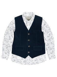 monsoon-hugo-velvet-waistcoat-and-shirt-set
